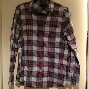 JCrew plaid button up shirt